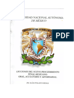 Lecciones Del Nuevo Procedimiento Penal Mexicano Oral Acusatorio y Adversarial