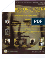 UCF Chamber Orchestra Program - 2013, February 15