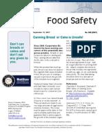 Food Safety Bulletin No 008 (2007)