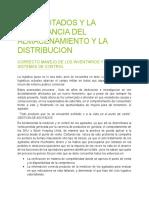 Los Agotados y La Importancia Del Almacenamiento y La Distribucion