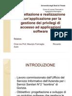 Presentazione Prelaurea Triennale Ingegneria Informatica Riccardo Gulin