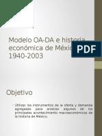 Modelo OA-DA e Historia Económica de México