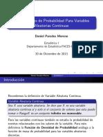 Distribuciones de Probabilidad Para Variables Aleatorias Continuas