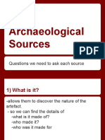archaeological and written sources