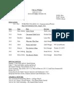 olivia wilder resume 2016
