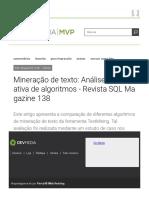 Mineração de Texto- Análise Comparativa de Algoritmos - Revista SQL Magazine 138