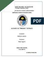 GLOSARIO TEATRAL