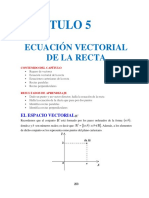 Ecuacion Vectorial de La Recta