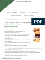 Que Se Come, Que No Se Come en La Dieta Paleo - Dieta Paleo