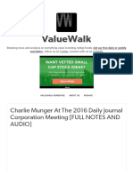 ValueWalk — Charlie Munger at the 2016 Daily Journal...