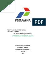 Proposal PKL PT. Pertamina