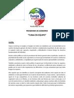Programa de Gobierno Tunja en Equipo