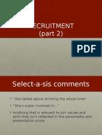recruitment workshop 2 asa
