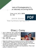 Corey Prostaglandin synthesis