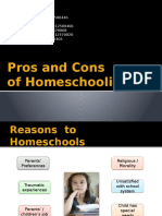 Pros and Cons Homeschooling - Presentation