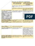 CUADRO COMPARATIVO DE LOS CAMPOS DE LA PEDAGOGÍA ciclo 2.docx