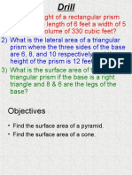 6.3 Surface Areas of Pyramids and Cones