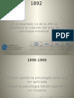 Parte de La Historia de La Psicologia Organizacional