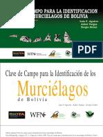 Guía de campo para la identificación de los murciélagos de Bolivia
