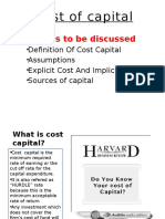 Cost of Capital Ppt