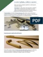 Barniz efecto oro   plata, cobre o acero
