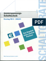 1. Niederspannungs-Schalttechnik Katalog NS K • 2000-01