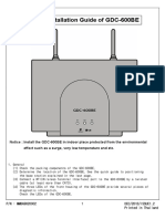 Quick Installation Guide Gdc-600be