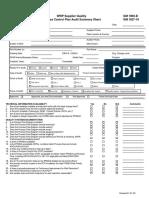 GP-9 Process Control Plan Audit Summary Sheet