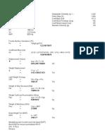 Perhitungan DWT dan LWT Kapal Tanker Laju Prakarsa