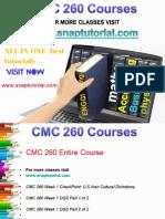 CMC 260 Proactive Tutors/snaptutorial