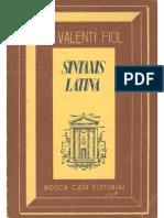 Valentí Fiol - Sintaxis Latina (1945)