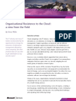 Opinions Organisational Resistance to the Cloud