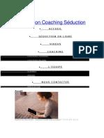 Mon Coaching Séduction - Devenez Un Séducteur d'Élite