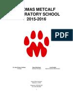2015-2016 Metcalf School Handbook