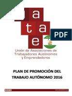 Plan de Promoción Del Trabajo Autónomo 2016