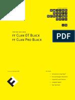 Ff Clan Pro Black