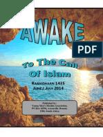 Awake 2014 Ramadaan 1435 Jun Jul 2014 by the majlis