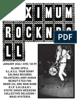 Maximumrocknroll January 2016 Leisure