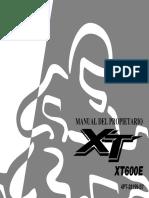 Manual Yamaha XT 600 E