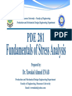 Fundamentals of Stress Analysis - Lec 04