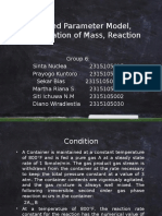 Presentation Lumped Parameter Model, Conservation of Mass, Reaction (Group 6) Fix