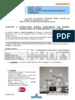CPHY-208 Extraction d Une Espece Chimique Fiche Eleve