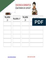 Plantilla Editable Conciencia Semantica Que Tienen en Comun