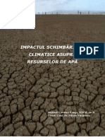 Ranga Catalina Schimbarile Climatice Si Resursele de Apa