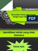 PPT Pleno Blok 29 Syok Hipovolemik - D7