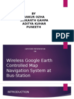 Wireless Google Earth Controlled Map Navigation System At