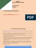 Unidad 5 Los Modelos de Mercado