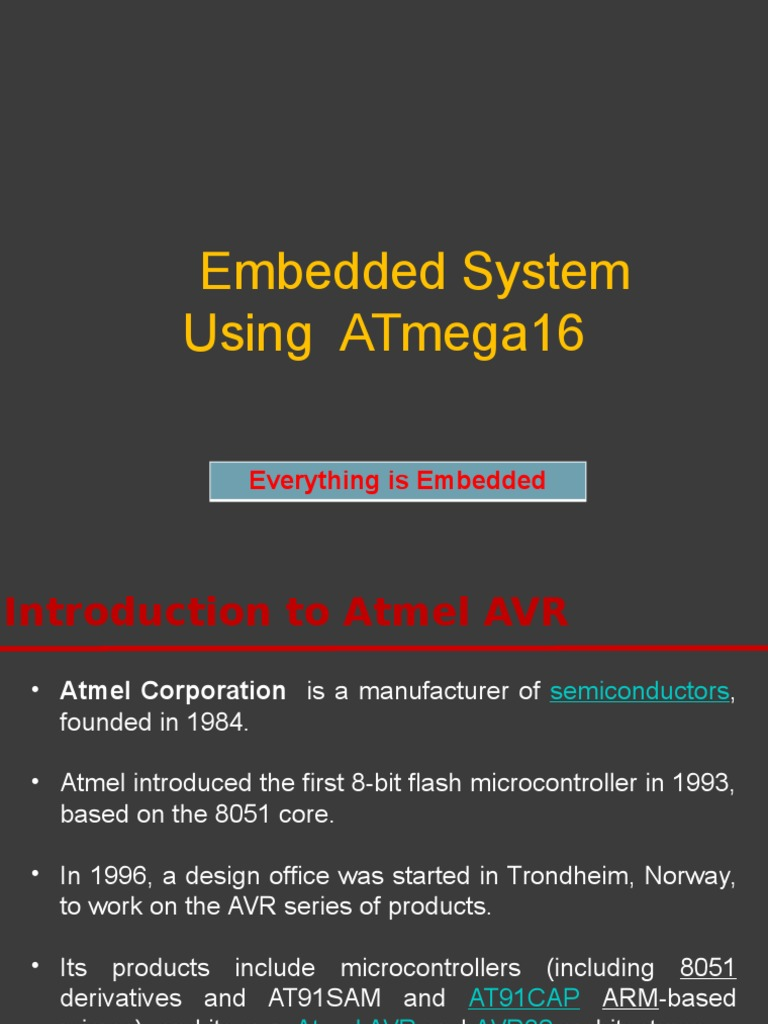 Avr Basics Computer Data Storage Instruction Set Atmel Mcu Family Expanded