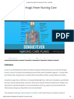 2 Dengue Hemorrhagic Fever Nursing Care Plans - Nurseslabs