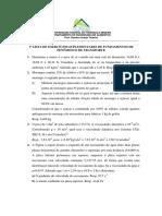 1ª Lista de Exercícios Suplementares FFT